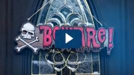 "3D Carving Halloween ""BeWARe"" Sign"