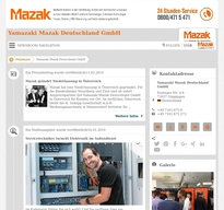 Yamazaki Mazak Deutschland GmbH NewsRoom