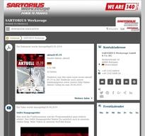 SARTORIUS Werkzeuge NewsRoom